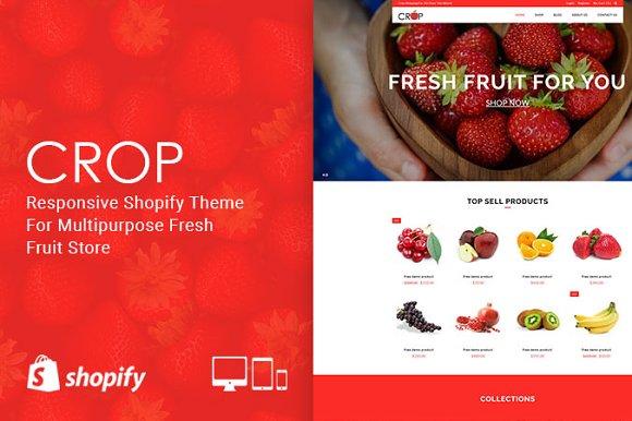 Crop Fresh Fruit Shopify Theme