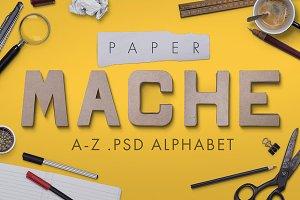 Paper mache psd font