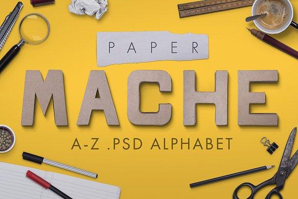 Paper mache psd font-Graphicriver中文最全的素材分享平台