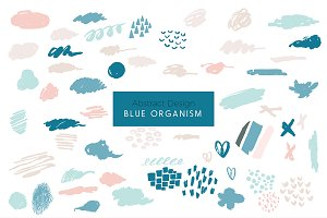 Blue Organism-Abstract Art Patterns