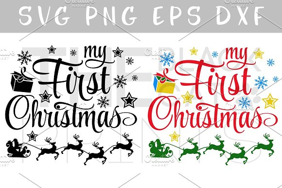 My First Christmas SVG DXF PNG EPS