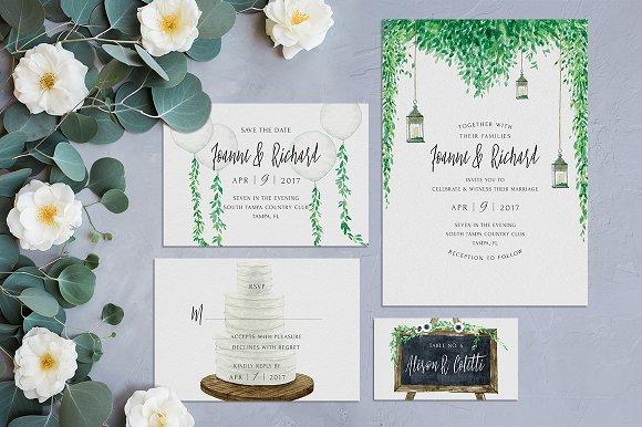 rustic wedding invitation kit ~ invitation templates ~ creative market, Wedding invitations