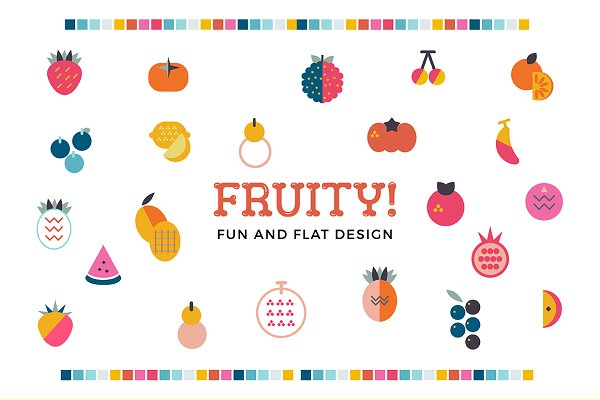 Fruity! Fun and flat fruits