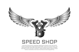 Motorcycle garage sign & Logos