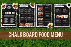 Chalkboard Food Menu