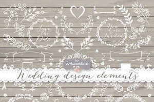 Vector wedding cliparts