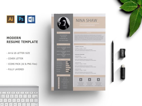 Saturn Resume Template