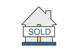 Sold house color icon