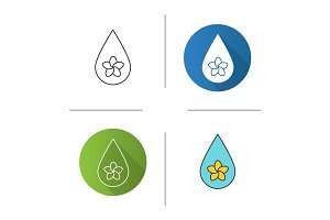 Aromatherapy oil drop icon