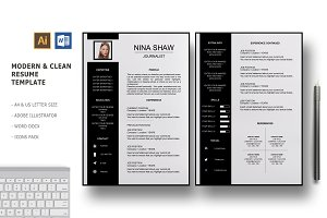 Draco 2 Pages Resume Template