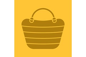 Beach bag glyph color icon