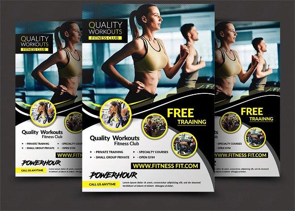 Fitness Flyer - Gym Flyer Templates ~ Flyer Templates ~ Creative Market