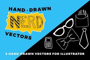 Hand Drawn Nerd Vectors