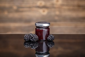 Fresh homemade blackberry jam