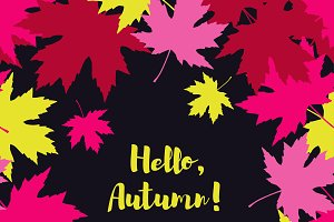 Card Hello Autumn.