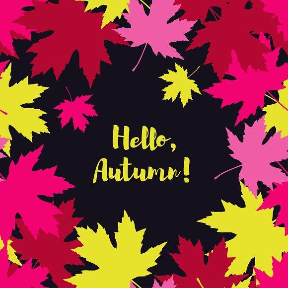 Card Hello Autumn