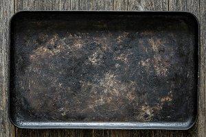 Old metal baking sheet