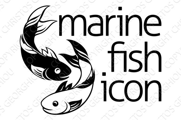 Fish Icon Concept  in Illustrations