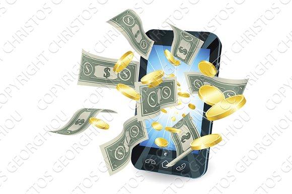 Money Mobile Phone Concept