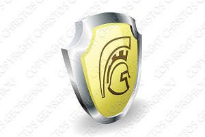 Spartan helmet shield security concept