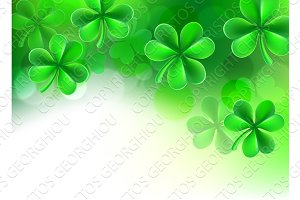 St Patricks Day Shamrock Clover Background