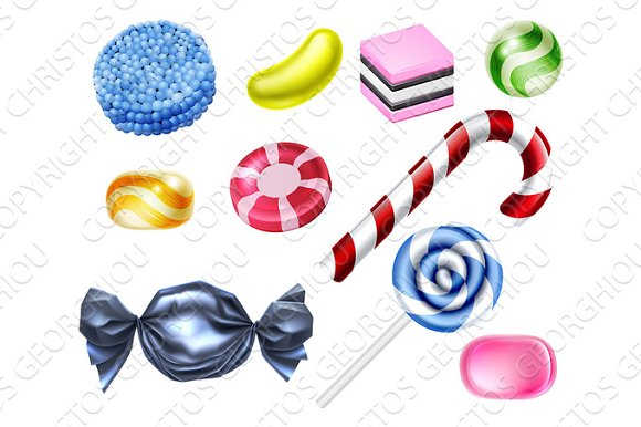 Sweets Candy Set