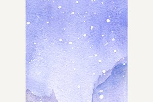 Watercolor snow winter texture
