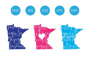 Minnesota SVG Cut Files and Clipart