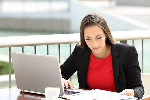 Executive reading documents