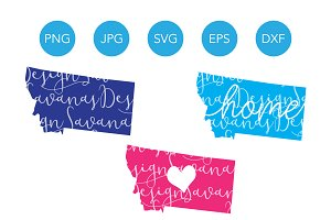 Montana SVG Cut Files and Clipart