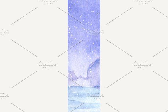 Watercolor Snow Winter Texture