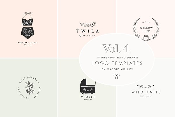 Feminine Premade Logo Bundle Vol. 4