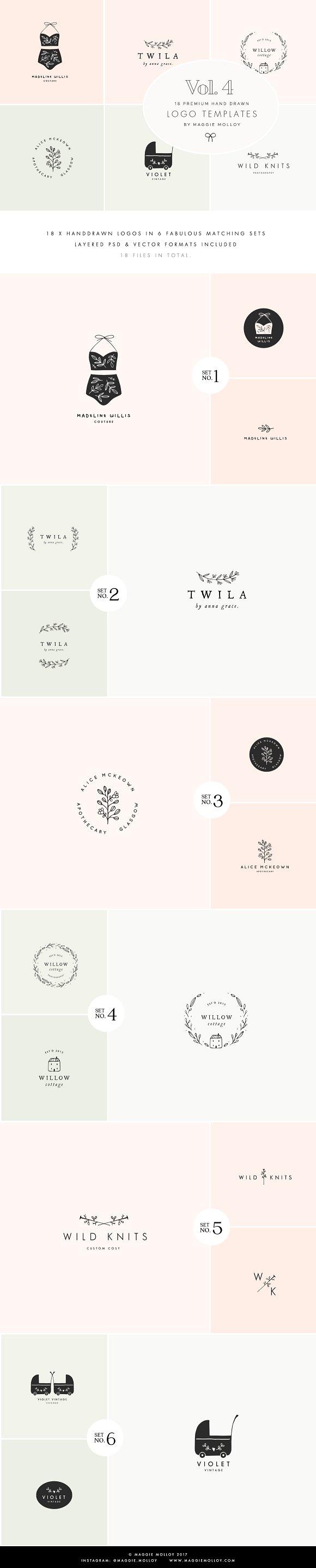 Feminine Premade Logo Bundl-Graphicriver中文最全的素材分享平台