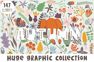 Autumn graphic collection