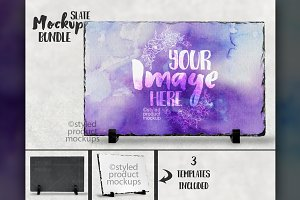 Long rectangle slate mockup