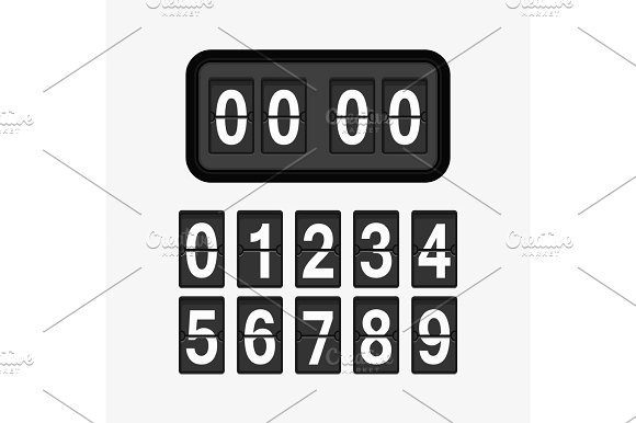 Clock Counter Illustration