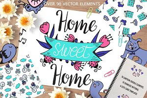 Home sweet Home - big doodle set