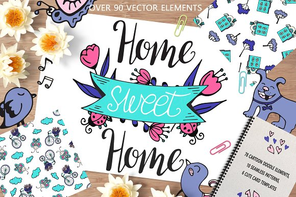 Home Sweet Home Big Doodle Set