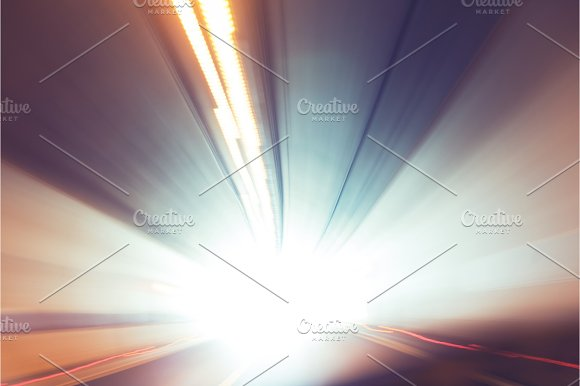 Abstract Motion Background With Colorful Lines