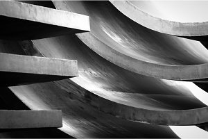 Abstract metal background with curves
