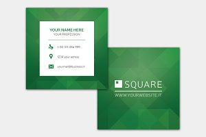 Square Green Business Card