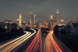 Midnight Atlanta skyline