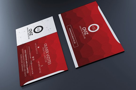 Red business card business card templates creative market colourmoves