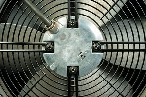 Closeup of an air conditioner