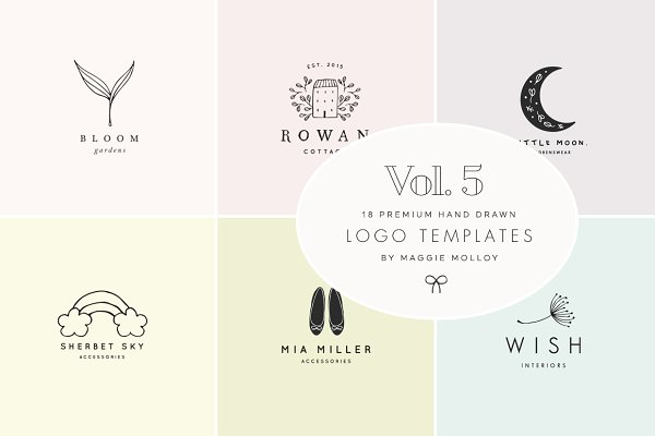 Feminine Premade Logo Bundle Vol. 5