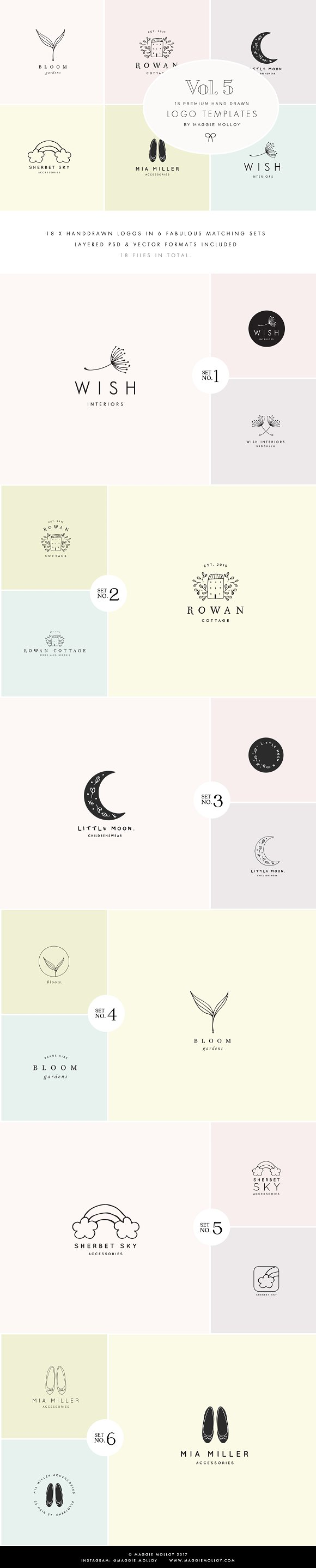 Feminine Premade Logo Bundle Vol 5