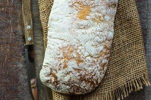 Traditional italian bread - ciabatta