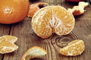 pieces of tangerines