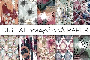 Abstract Brush Stroke Digital Papers