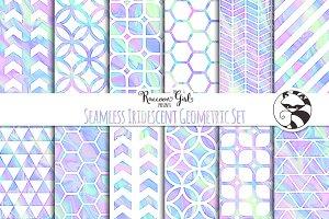 Seamless Iridescent Geometrics